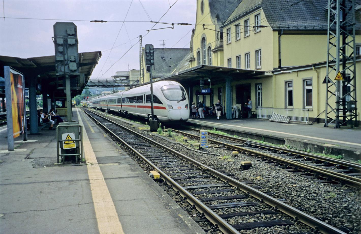 ICE-Taufe in Marburg(Lahn) an Gleis 1
