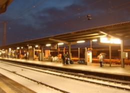 Schnee im Bahnhof Gießen
