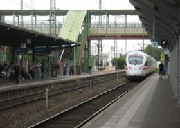 ICE-Abfahrt in Gießen
