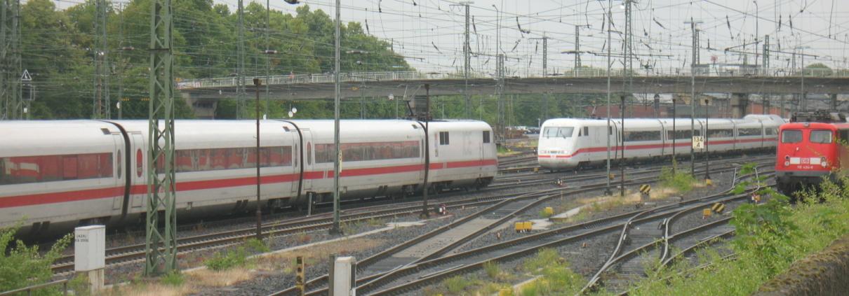 ICE-Kreuzung in Gießen
