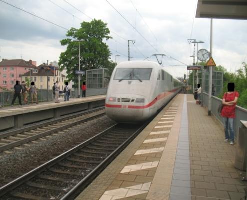 ICE-Durchfahrt Gießen Oswaldsgarten