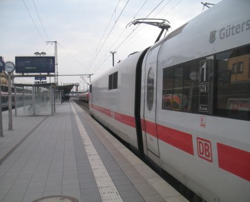 ICE-Durchfahrt in Gießen