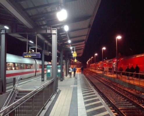 ICE-Betriebshalt in Stadtallendorf