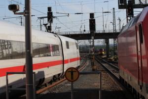ICE-Halt in Gießen; Bahnsteig zu kurz