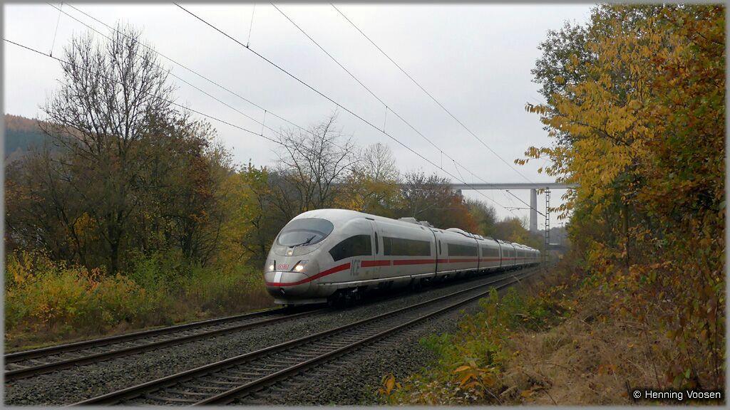 ICE 3 bei Siegen, Ortsteil Rinsenau/Marienhütte