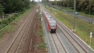 Neue Gleise bei Ginnheim (Oktober 2021)