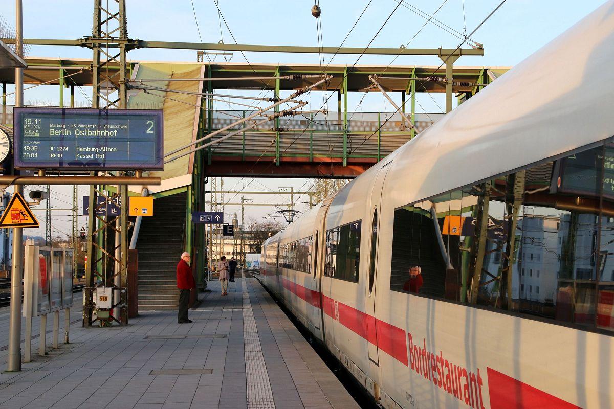 ICE-Ausfahrt in Gießen