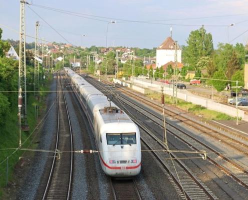 ICE-Durchfahrt in Kirchhain(Bz Kassel)